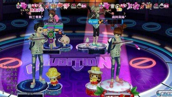 使用劲舞团游戏_键盘来进行全屏操作控制